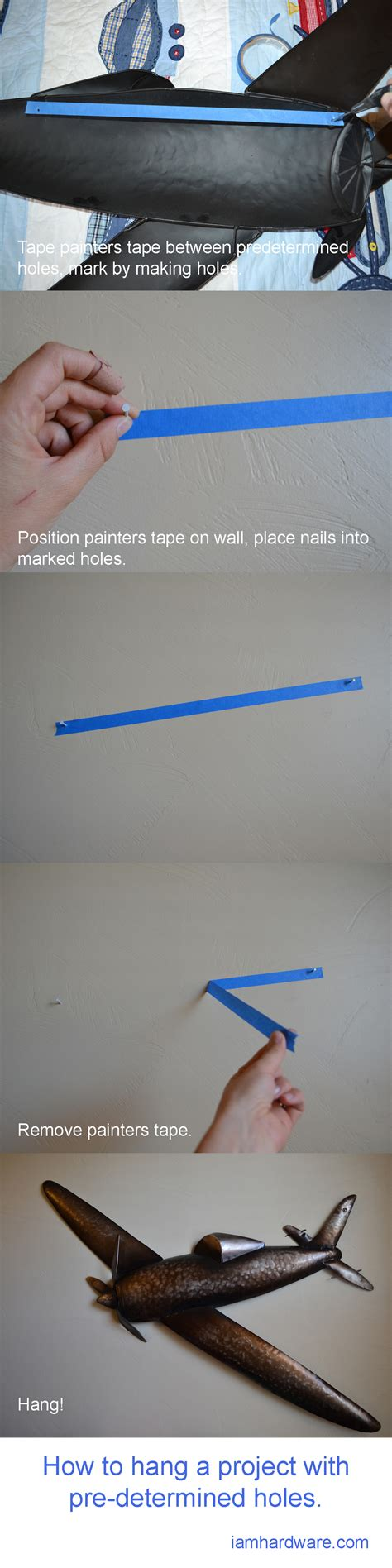 how to hang something without holes how to hang something with pre determined holes i am