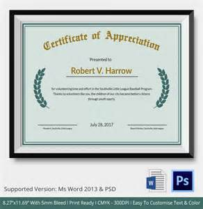 Free Certificate Of Appreciation Template For Word by Certificate Of Appreciation Templates 24 Free Word Pdf