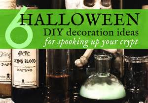6 diy halloween decorations made with upcycled materials