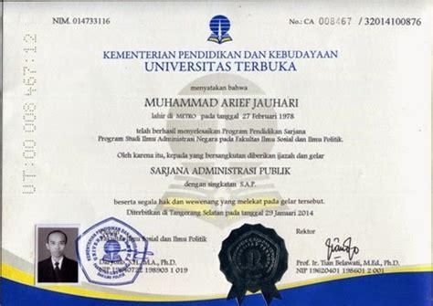 lifelong education dengan ijazah ut lulus ujian dinas pns