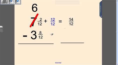 worksheets for subtracting fractions with regrouping