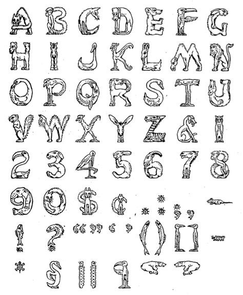 printable animal fonts animal font generator www pixshark com images