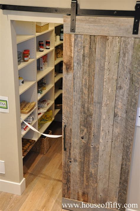 Pantry Barn Door Cottage Kitchen House Of Fifty Barn Doors For Pantry