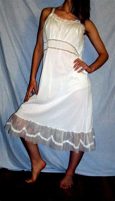 Nessia Itahar White Size 38 vintage 1950 s serufe white slip new nwt nos size 38 from missjewel on ruby
