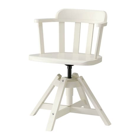 feodor swivel chair with armrests white ikea