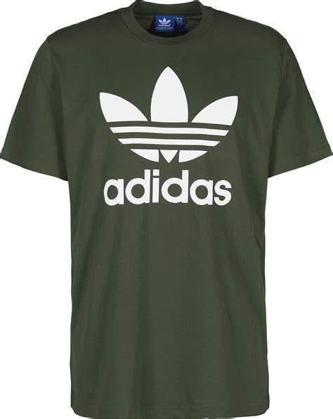 Kaosbajut Shirt Adidas 3 adidas trefoil t shirt olive