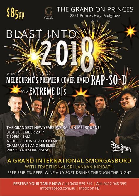 new year melbourne 2018 dates elanka new year s blast into 2018 with