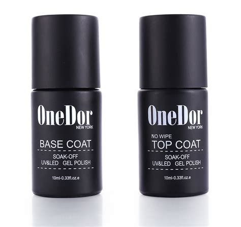 gel top coat no uv light amazon com onedor 174 one gel uv led cured nail