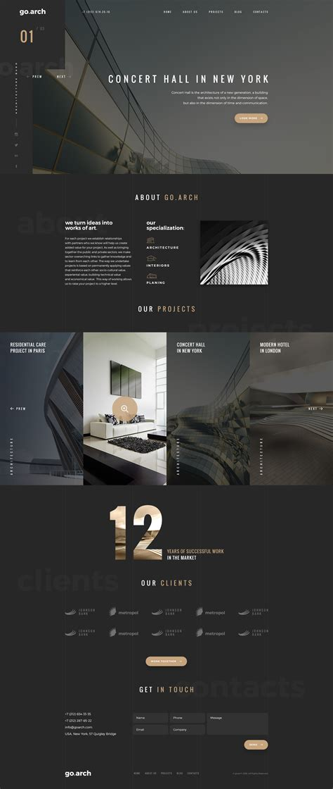 home care website design inspiration go arch architecture psd template by spartakvee2511