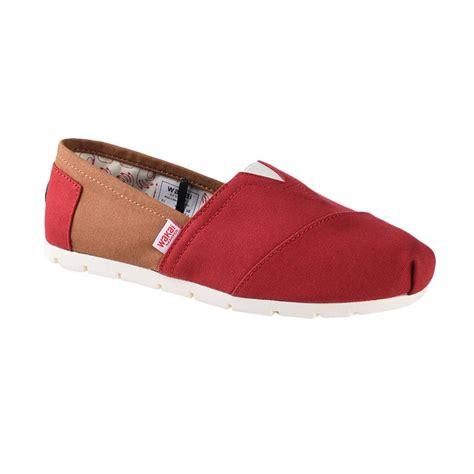 Sepatu Murah Wakai Slip On Wanita Maroon Abu Made In Japan jual wakai wak cw01702 chuo sepatu wanita khaki maroon harga kualitas terjamin
