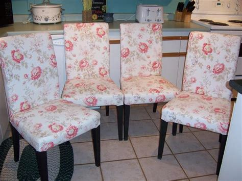 slipcovers ottawa set of 4 ikea henriksdal parsons chairs with floral covers