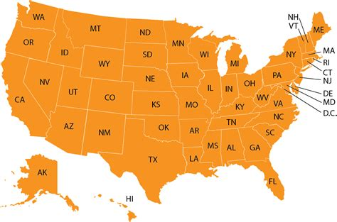 usa state abbreviations map us map with states abbreviated cdoovision