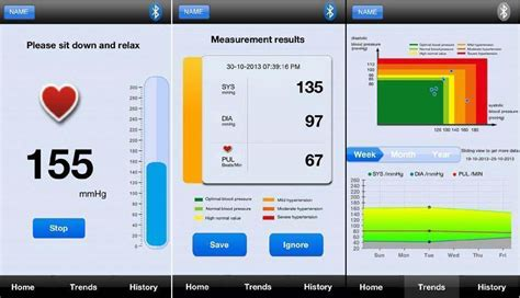 blood pressure app android 35 bluetooth blood pressure monitor works with android and ios