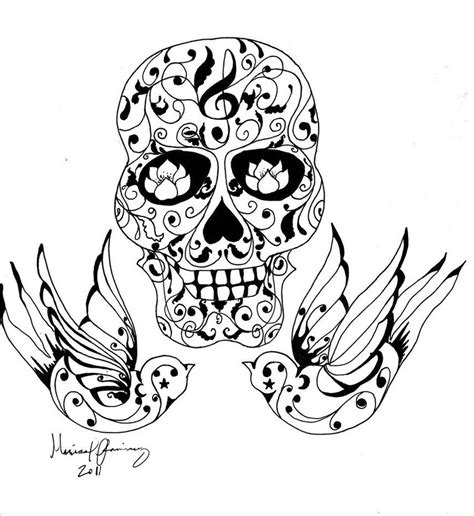 sugar skull tattoo design photos coloring pages coloring pages skull skull