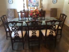 Mahogany Dining Room Set by Thomasville Traditional Mahogany Dining Room Set With 9