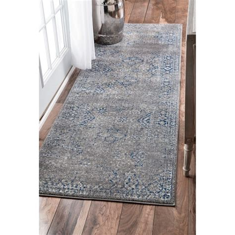 two grey rugs nuloom traditional distressed grey runner rug 2 8 x 8 overstock shopping the best