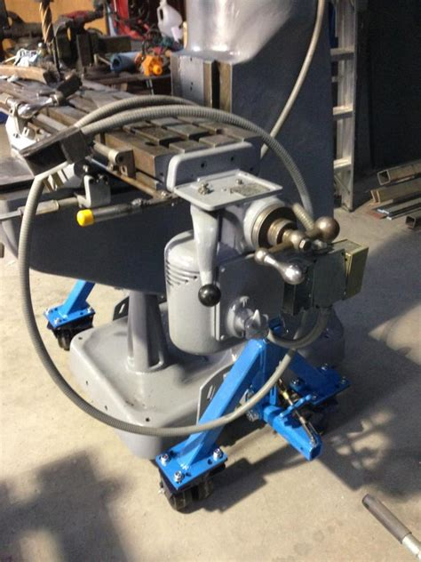 modified pallet jack  moving bridgeport style milling