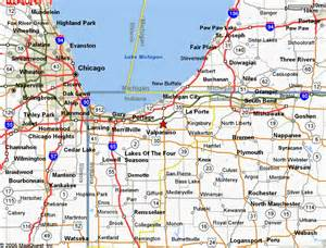 map of northwest cities map of indiana and michigan michigan map