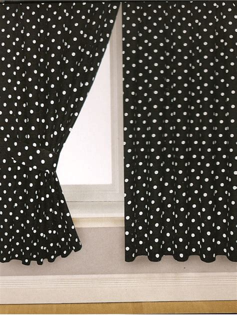 black and white polka dot curtain panels black polka dot curtains
