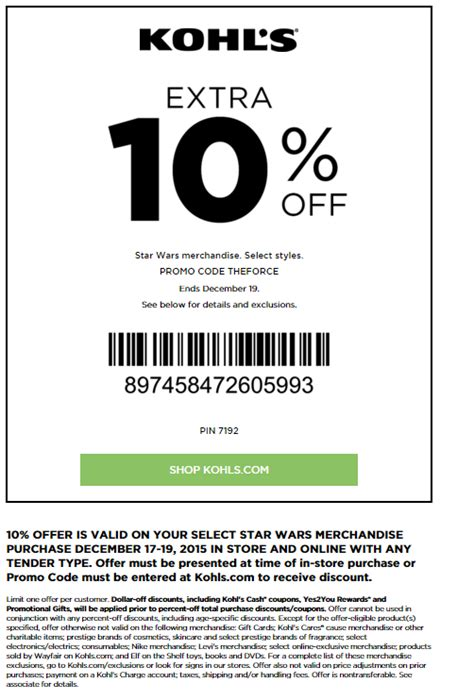 kohls coupons september 2016 coupon codes printable coupons