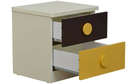 Yellow Bedside Table Jaubrun Brown And Yellow Bedside Table Stand For L