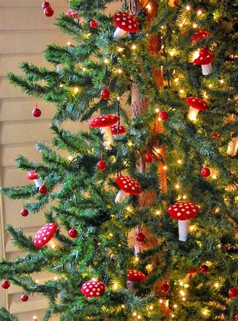 decorar el 225 rbol de navidad con setas de fieltro