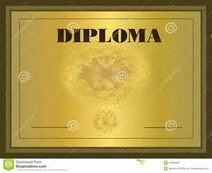 diploma gold frame royalty free stock image image 18302236