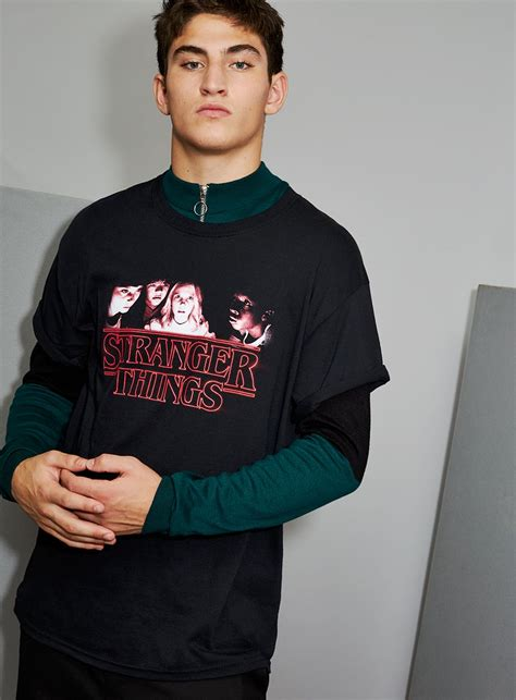 Things X Topman Two Tone Sleeve Item topman x things black iconic print t shirt topman