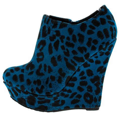 Boots Wedges 88 trouble blue leopard wedge boots from 12 88 27 88