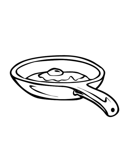 pan coloring pages fried egg with pan coloring pages print
