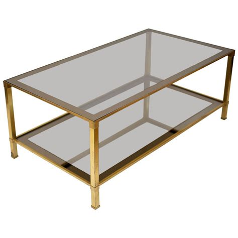 Glass Rectangle Coffee Table Brass Glass Rectangular Coffee Table Coffeetablesmartin Tables And Beyond