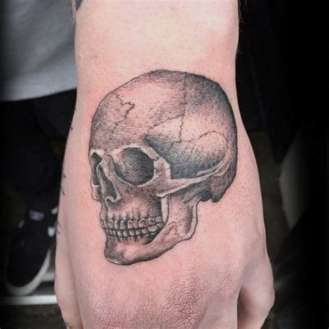 small tattoo designs for men on hand 50 small skull tattoos for mortality design ideas