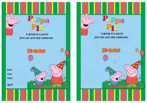 peppa pig printable birthday decorations peppa pig birthday invitations birthday printable