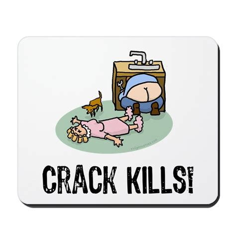 Wall Decorative Stickers crack kills funny mousepad by evilgeniusstore