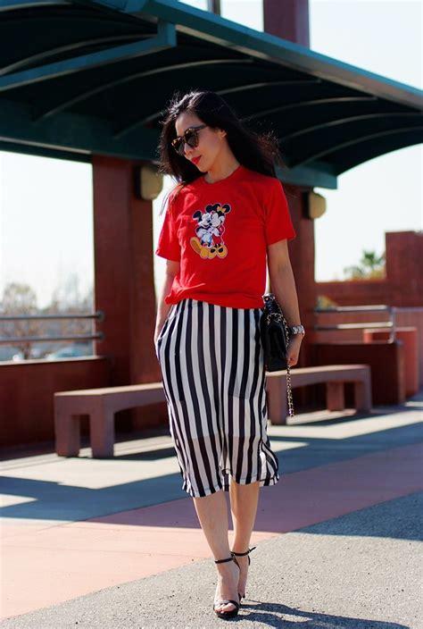 Luck You Mickey Dress mickey striped skirt by hallie daily lucky community