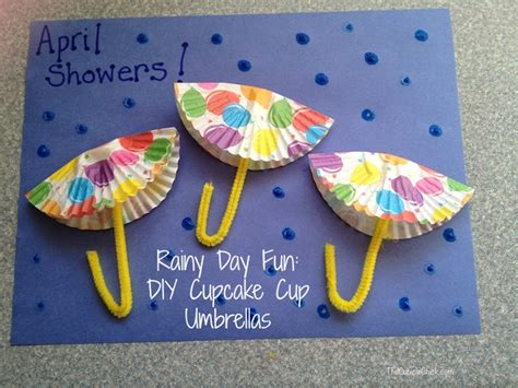 7 rainy day crafts to rainy day diy cupcake cup umbrellas