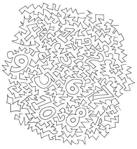 Find By Number Numbers Puzzle Colouring Pages