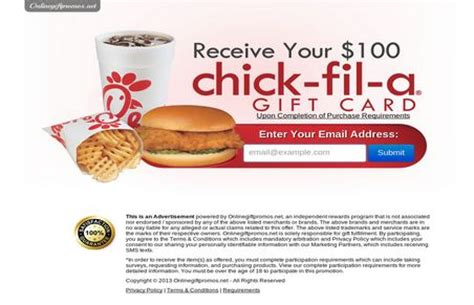 Free Chick Fil A Gift Card - pin by free sles free stuff on free gift cards pinterest