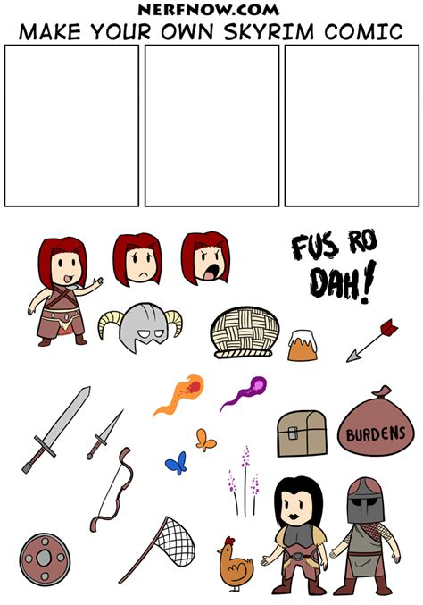 Make Your Own Meme Comic - nerf now make your own skyrim comic