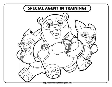 Disney Jr Characters Coloring Pages Special Agent Oso 1 Free Disney Coloring Sheets Learn