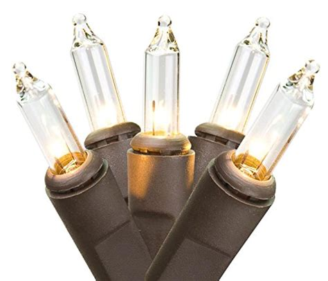 35 mini lights clear northlight mini lights with brown wire clear set of 35