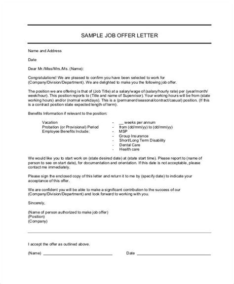 Informal Letter Of Offer 48 formal letter exles and sles pdf doc