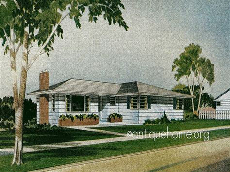 1950s Ranch House Floor Plans Retro 1950s Style Homes 1950s Ranch Style Home Plans