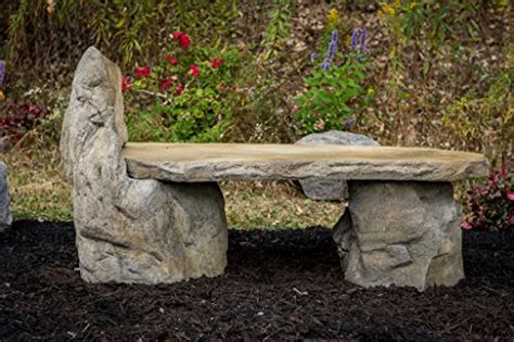 stone garden bench with back garden bench basalt stone boulder bench with back cast