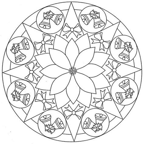 mandala christmas twin bell coloring pages coloring
