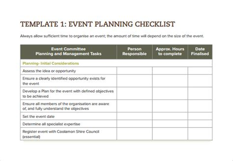 wedding coordinator checklist template sle event checklist template 6 free documents
