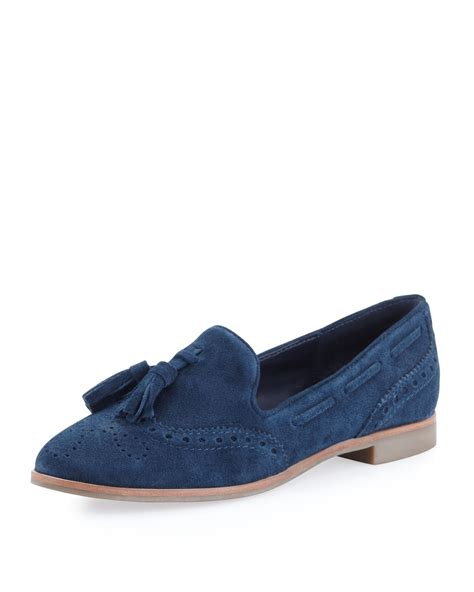 blue suede tassel loafer dolce vita marcel suede tassel loafer navy in blue navy