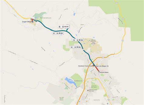 cuesta college map route 14 san luis obispo to cuesta college san luis