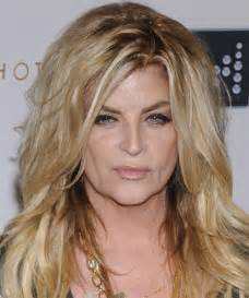 Kirstie alley long straight casual hairstyle light blonde golden