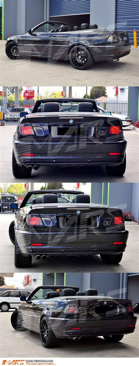 e46 m3 led tail light conversion smoked m3 led tail lights for bmw e46 convertible cabrio